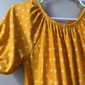 Old Navy Yellow/White printed Romper